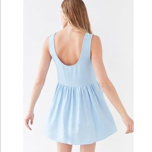 7f2611da94 Urban Outfitters Dresses - Cooperative Oversized Linen Babydoll Dress